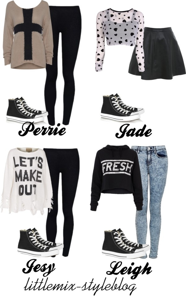 """""""*REQUESTED* LM Inspired ft. Black High Top Converse"""" by little-mix-fashion ❤ liked on Polyvore"""
