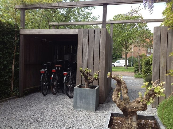bicycle storage in the garden