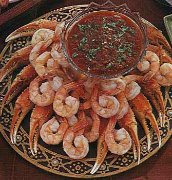 Smokey Salsa Chili Horsey cocktail sauce!!! Sooo Good just served with Imitation Crab for easy Appetizer