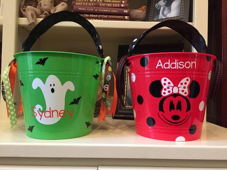Girls Halloween Buckets