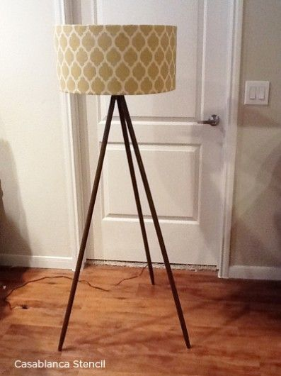 Use the Casablanca Craft Stencil to get this look! http://www.cuttingedgestencils.com/craft-furniture-stencil.html