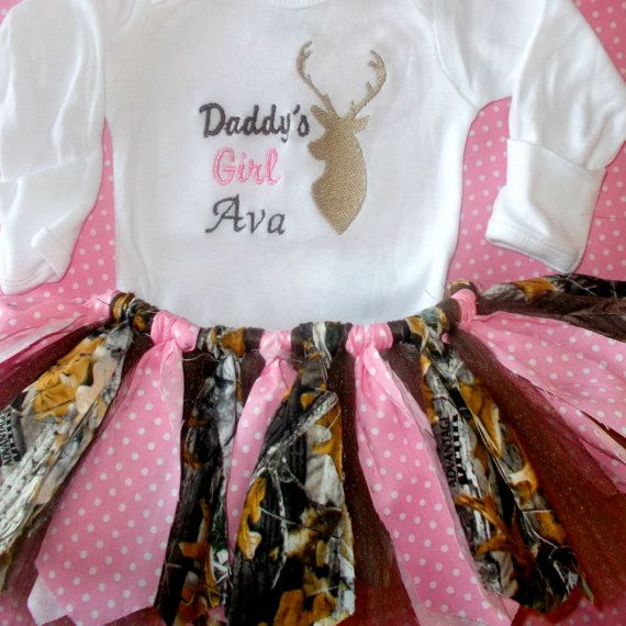 Girl Hunting Outfits Baby Girl Camo Outfits by BouquetsandGifts