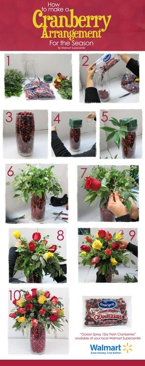 Cranberry Floral Arrangement #Walmart
