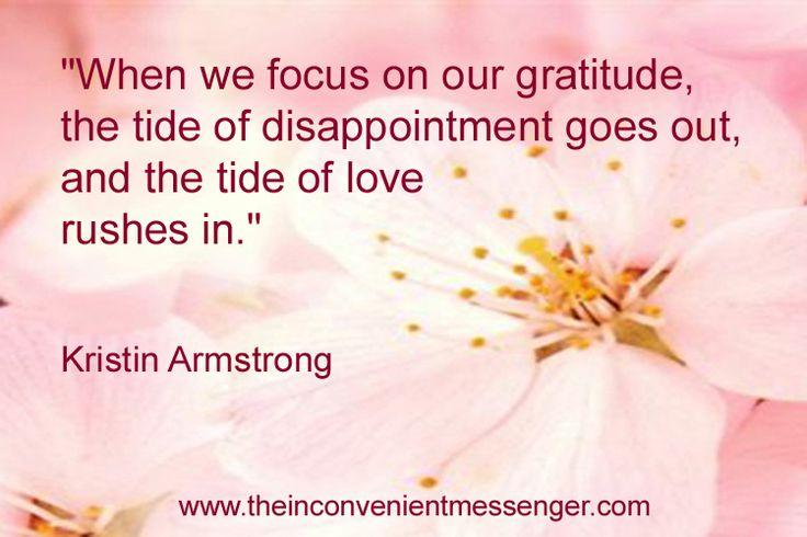 Focus on our gratitude.
