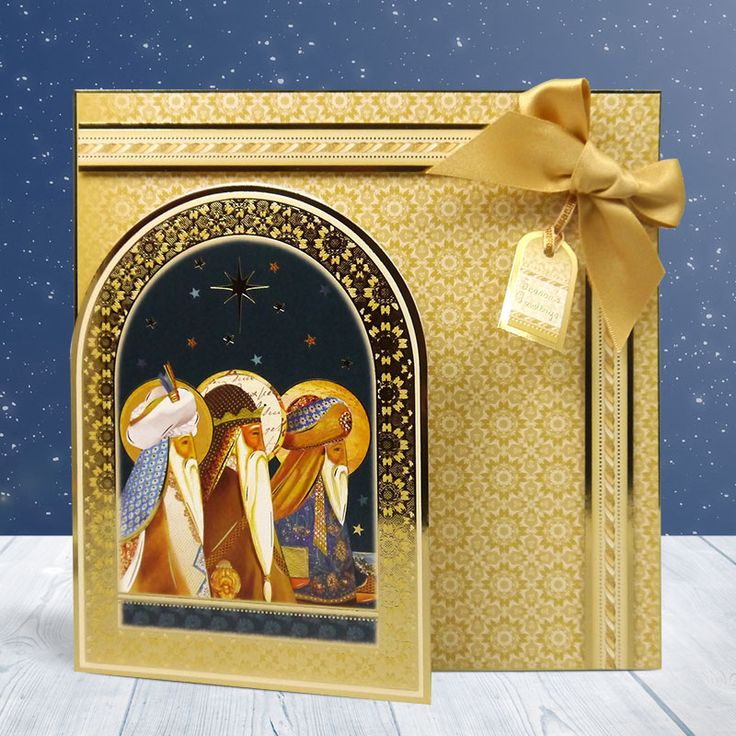 This card looks wonderfully elegant and fits in perfectly with Christmas being gold! This sensational creation was made using the Festive Splendour collection.