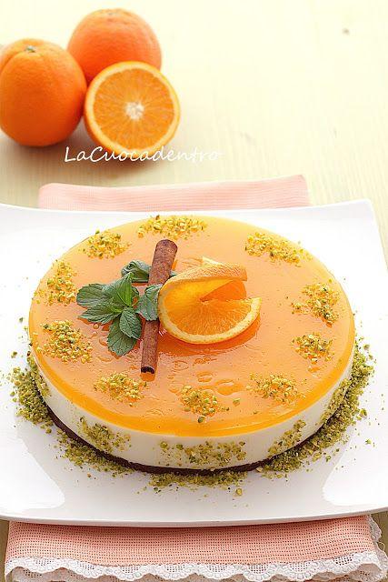 Cheesecake all'arancia   La Cuoca Dentro
