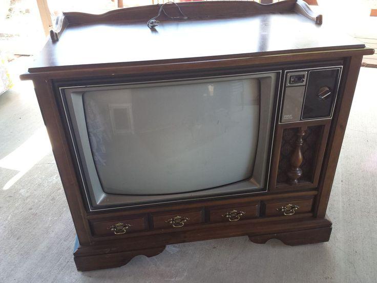 Vintage TV Cabinet Turned Dog Bed!