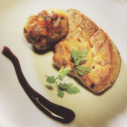 "Pan-Fried Duck Foie Gras, Pork   ""Crepinette"""