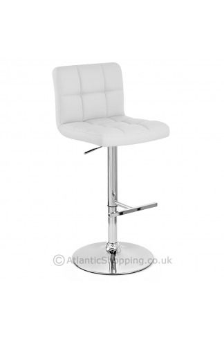 Grid Bar Stool White