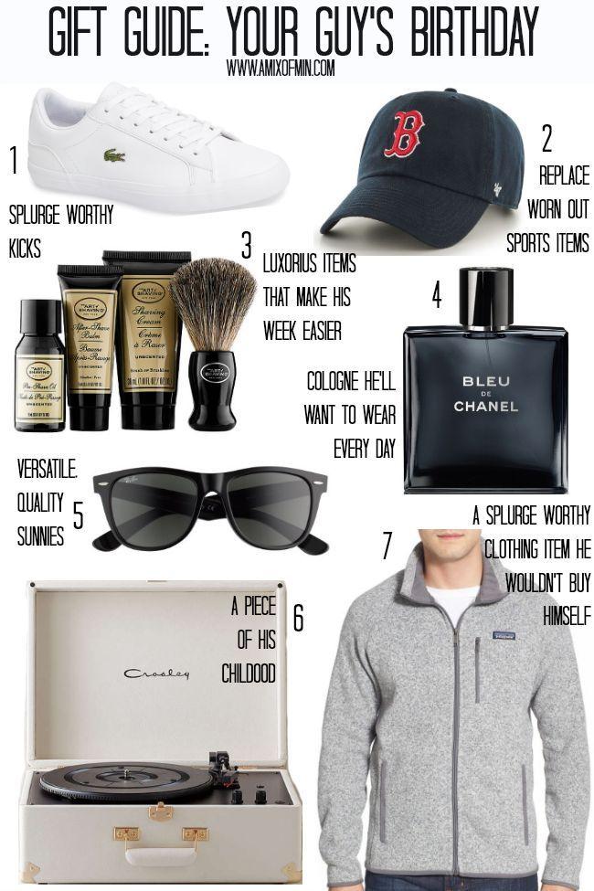Gift Guide Your Guy S Birthday Mens Birthday Gifts Birthday