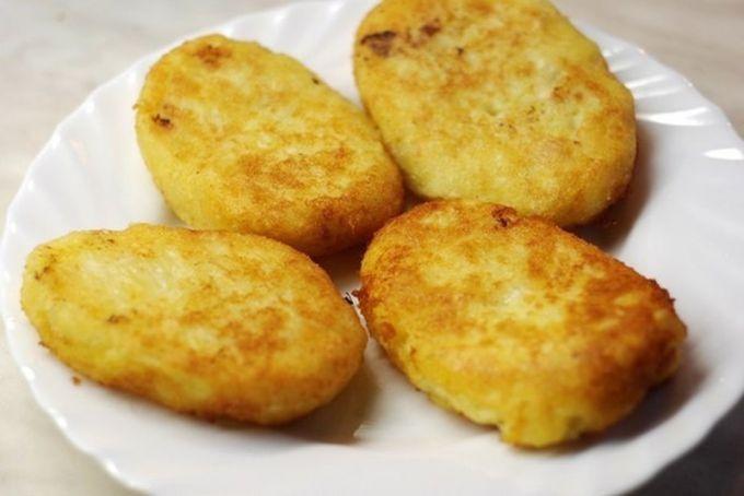 Котлеты из картофеля с капустой