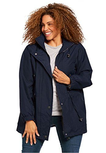 Woman Within Women's Plus Size Jacket, Anorak In Weather-... #protection #hoodie #jacket #coolibar #lightweight #fabric #sleeves  #zipper #hands #summer #hood #clothing #pockets #fashion #style #shopping #hipster  #litewear #womenswear #fashion #love   #women #womenfashion #Clothing    #Womensclothing #womenstyle   #amazon  #dress #womendress