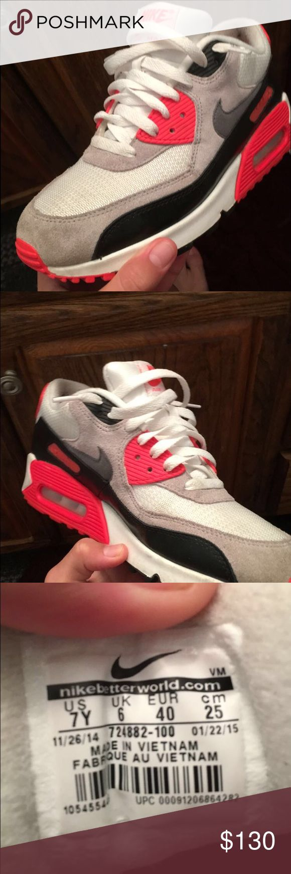 Nike air max 90 infrared Worn one time Shoes