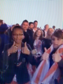 So Team GB women may not go to Rio 2016. One to watch. http://www.bbc.co.uk/sport/0/football/19256236  Mean time here's their Manager enjoying the Closing Ceremony of 2012 Olympics having beaten Brazil, topped the group and got to the 1/4s.