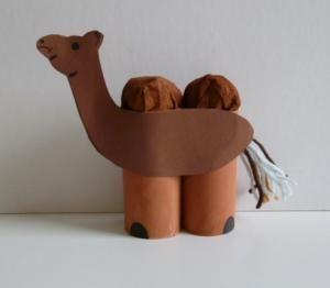 Kamel aus Klorollen - Tiere Basteln - Meine Enkel und ich - Made with schwedesign.deCamel Craft