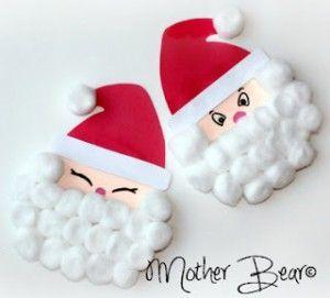 Paper plate Christmas crafts Santa