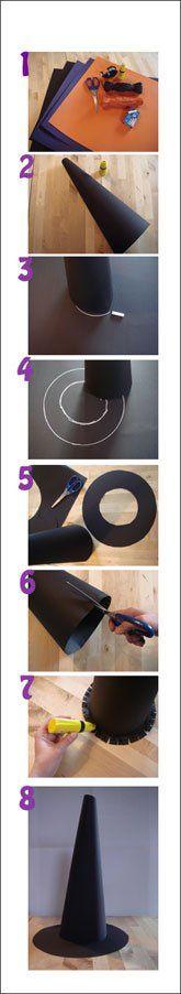Les 25 meilleures id es de la cat gorie chapeaux de - Sorciere halloween a fabriquer ...