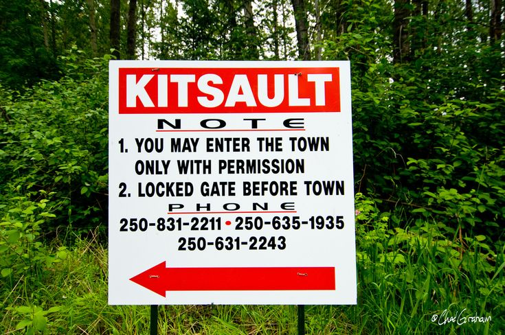 Abandoned town in near perfect condition. Kitsault, British Colombia.
