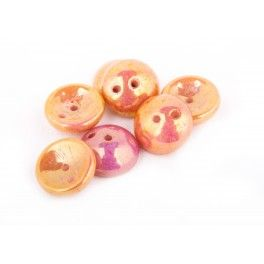 Piggy Beads - 8mm Pink Luster x1
