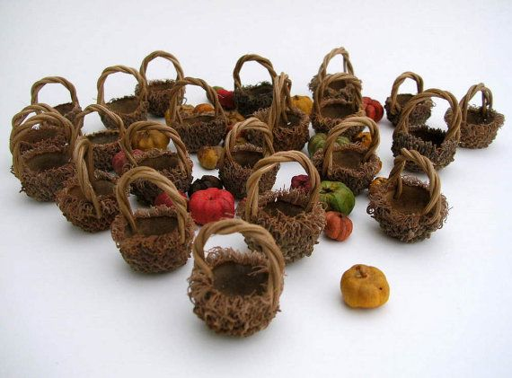 Handmade Miniature Baskets from Acorns  by TheBentTreeGallery, $99.00