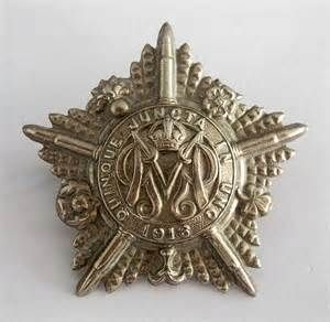WWI 1916 Canadian Army Machine Gun Regiment Badge.