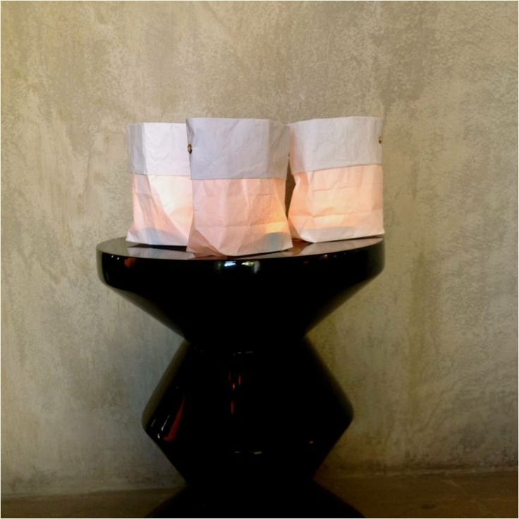 #candles dressed in #PaperBags for these #candlelit dinners, on the table or hung up in trees.