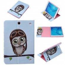 Owl Cartoon Pattern Tablet Case for Samsung Tab T560
