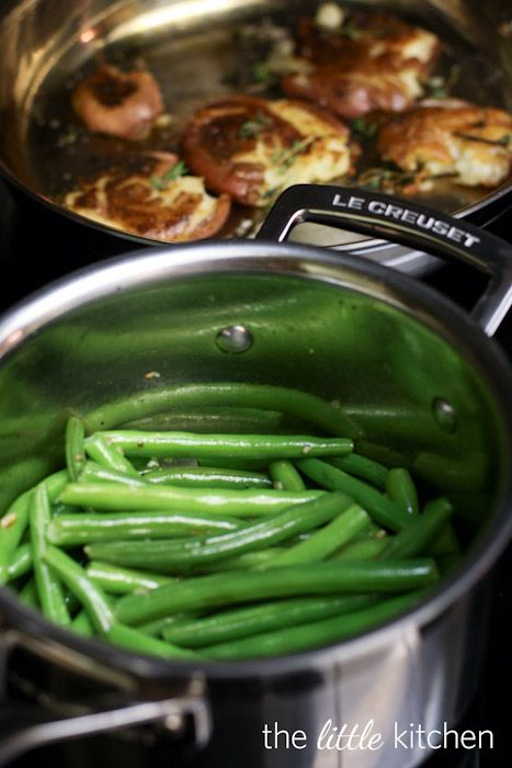 Garlic and Olive Oil Sauteed Green Beans. The perfect green bean every time. No more soggy green beans!