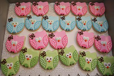 Owl cookies: Owl Theme, Owl Ideas, Owl Cookies Elizabeth, Owl Birthday Parties, Cutest Owl, Cutest Cookies, Cute Cookies, Birthday Ideas, Baby Shower