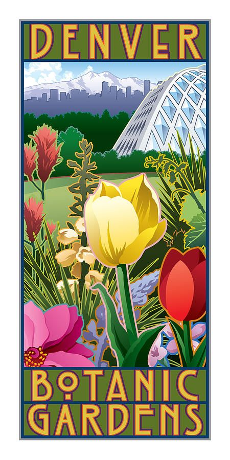 ~~Denver Botanic Gardens | featuring many of the flowers found on the Front Range of Colorado with the Tropical Conservatory and the Denver Skyline behind one of the Rocky Mountains by Steven Schader~~