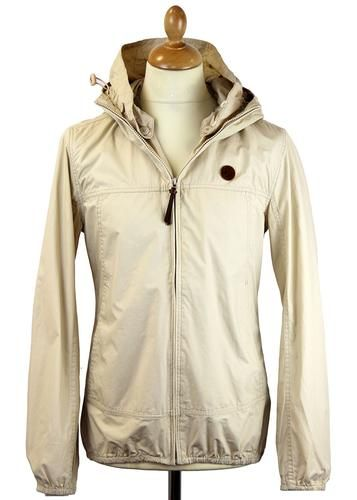 Pretty Green Retro Indie Mod Festival Jacket in Stone. An iconic style that makes a welcome return to the pretty Green range. Available online at Atom Retro, priced at £79.99. http://www.atomretro.com/product_info.cfm?product_id=14105 #PrettyGreen #festivaljacket