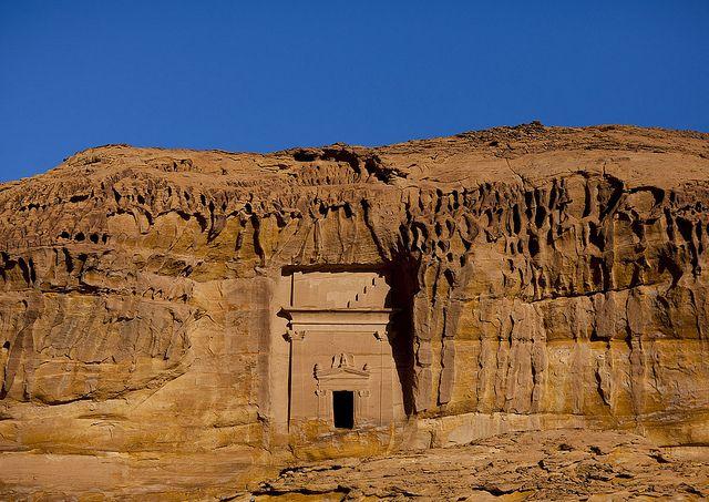Mada'in Saleh (Arabic: مدائن صالح, madā'in Ṣāliḥ), also called Al-Hijr or Hegra, is a pre-Islamic archaeological site located in the Al-Ula sector, within the Al Madinah Region of Saudi Arabia.