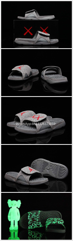 Free Shipping KAWS X Air Jordan 4 Cool Grey Slippers 40~46 WhatsApp:86 13328373859
