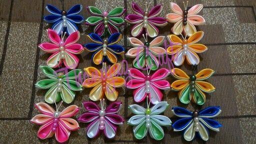 Bros kanzashi kupu-kupu