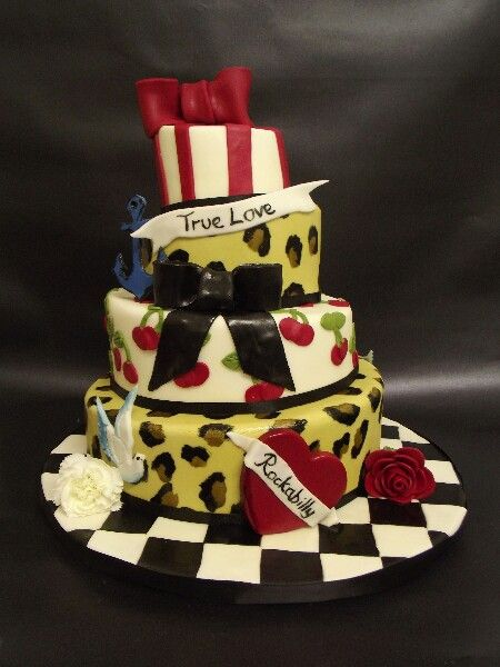 Best Beautiful Cakes Images On Pinterest Beautiful Cakes - Rockabilly birthday cake