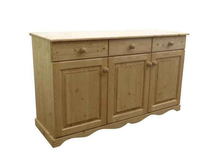 Different angle of one of our wooden sideboards.