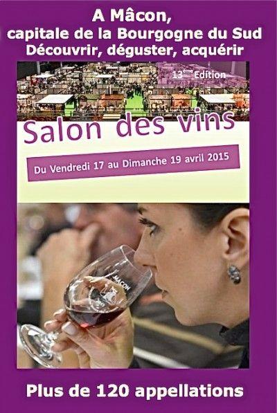 #Mâcon Infos: Le Salon des Vins de Mâcon se tient du 17 au 19 avril au spot!