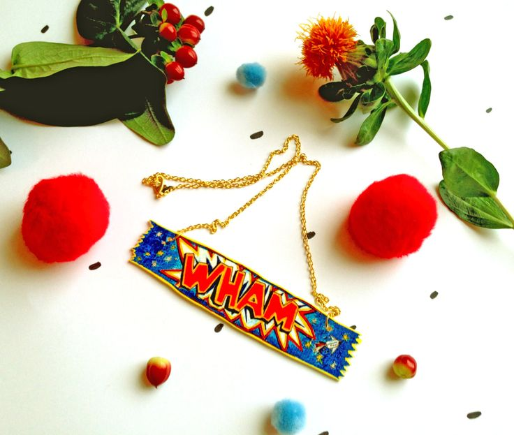 Wham Bar Necklace Classic Retro Sweet Illustrated in Necklace Form! Scottish Sweet Necklace (12.00 GBP) by ClaireBarclayDraws