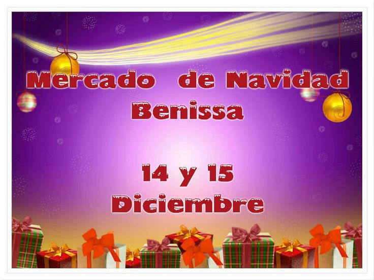 Mercado de Navidad en #Benissa 14 y 15 de diciembre #CostaBlanca