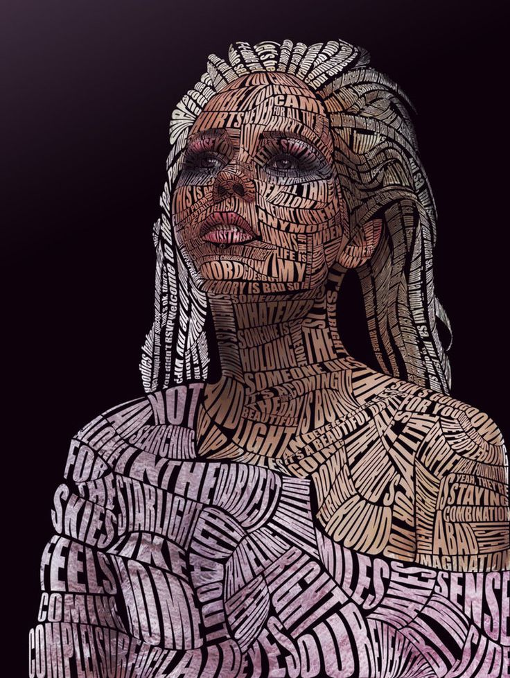 kerli_typographic_portrait__color__by_Brad-Phillips More than Words 30 Typographic portraits