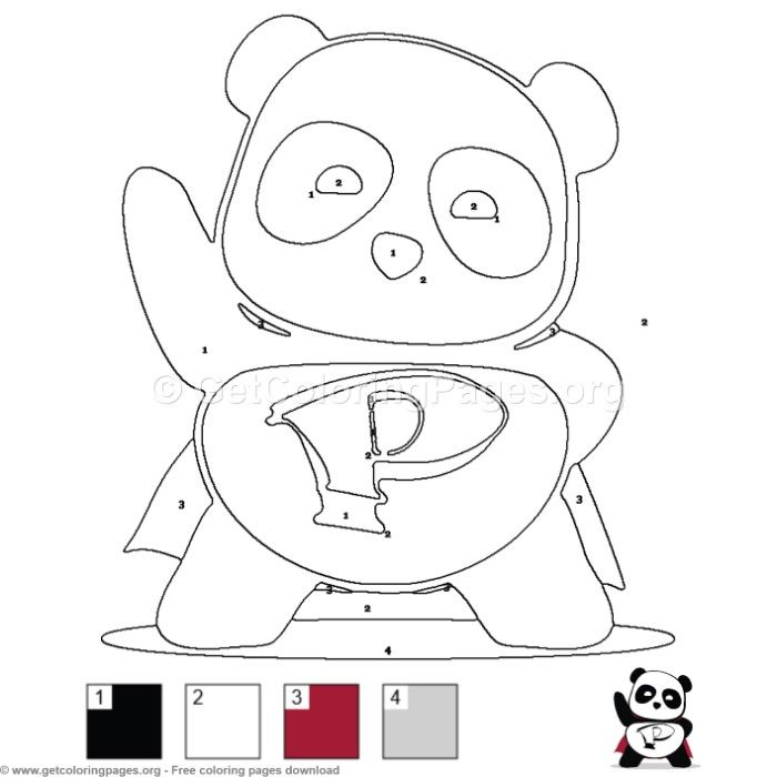 Super Hero Panda Color By Number Coloring Pages Free Instant Download Coloring Coloringbook Coloringpage Moon Coloring Pages Animal Coloring Pages Pixel Art