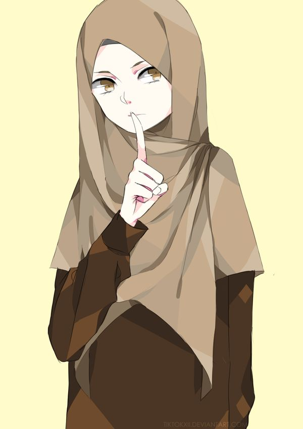 a random illustration that I altered by putting on hijab and a pair of pants…