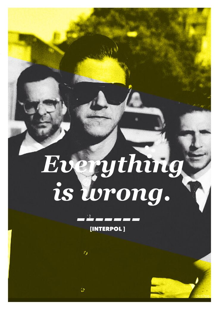 """Everything Is Wrong [ Interpol ] El Pintor, """"Can we start over as agents of peace...."""""""