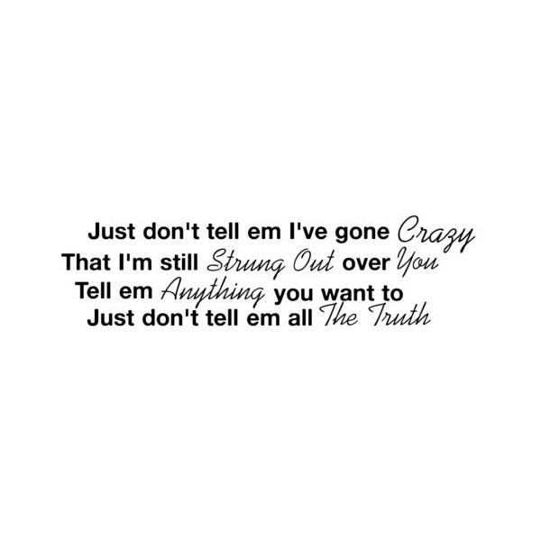 The Truth Lyrics, Jason Aldean found on Polyvore