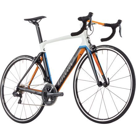 Lauded as the heir to its Cento1 Air predecessor's throne, the 2017 Wilier Cento10 Air Ultegra Di2 Complete Road Bike places a lazer focus on aerodynamics with updated tube shaping and a new integrated cockpit. Compared to the Cento1 Air, the Cento10 Air claims eight percent improved aerodynamic efficiency, as well as a 15% reduction in overall weight that pairs with race-ready geometry for a resulting fast, snappy ride.