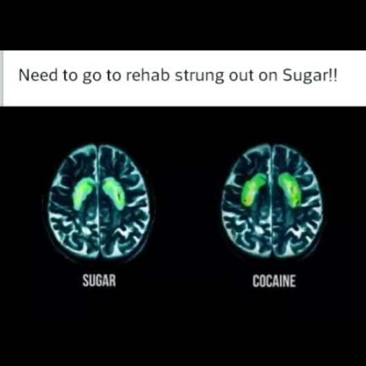 Sugar is addictive - Fed Up movie released may 9, 2014 may be worth a watch.