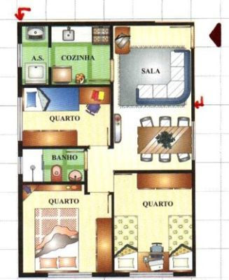plantas de casas simples: Casa Simple, Home, Plans, House Blue-Clear, Projeto Decoraçao, Plants, Plantadecasa 11, Plantas Baixa, My House