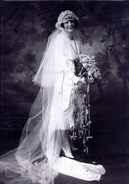Bridal portrait, 1920s.