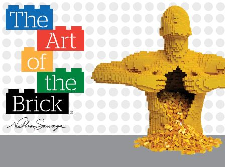 Tickets to the traveling Art of the Brick exhibit featuring the work of artist Nathan Sawaya (exhibit is in NYC at Discovery Times Square until January 5, 2014.