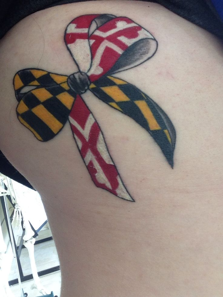 Maryland Bow Tattoo